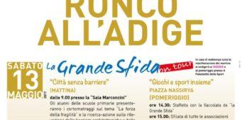 13 Maggio: La Grande Sfida a Ronco all'Adige