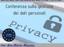 Conferenza sulla gestione dei dati personali