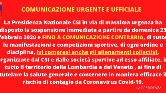 Comunicazione urgente e ufficiale