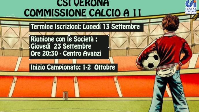 Calcio a 11: calendario appuntamenti.