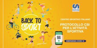 """Protocollo CSI """"Back to Sport"""" (aggiornato 15 ottobre '21)"""