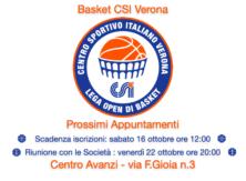 Lega Basket CSI Verona / appuntamenti & scadenze