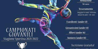 Calcio Giovanile – Stagione Sportiva 21/22
